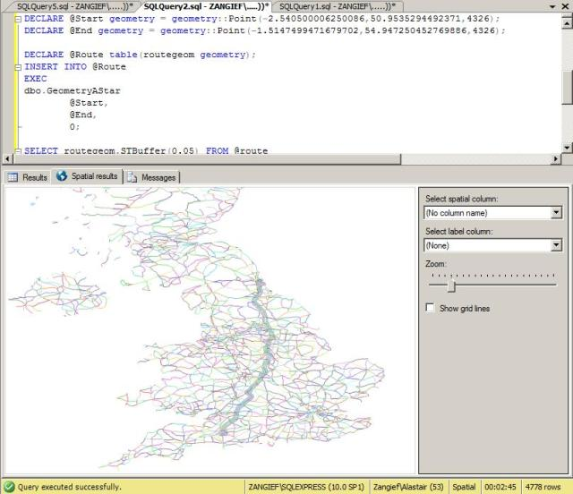 Route-finding in SQL Server