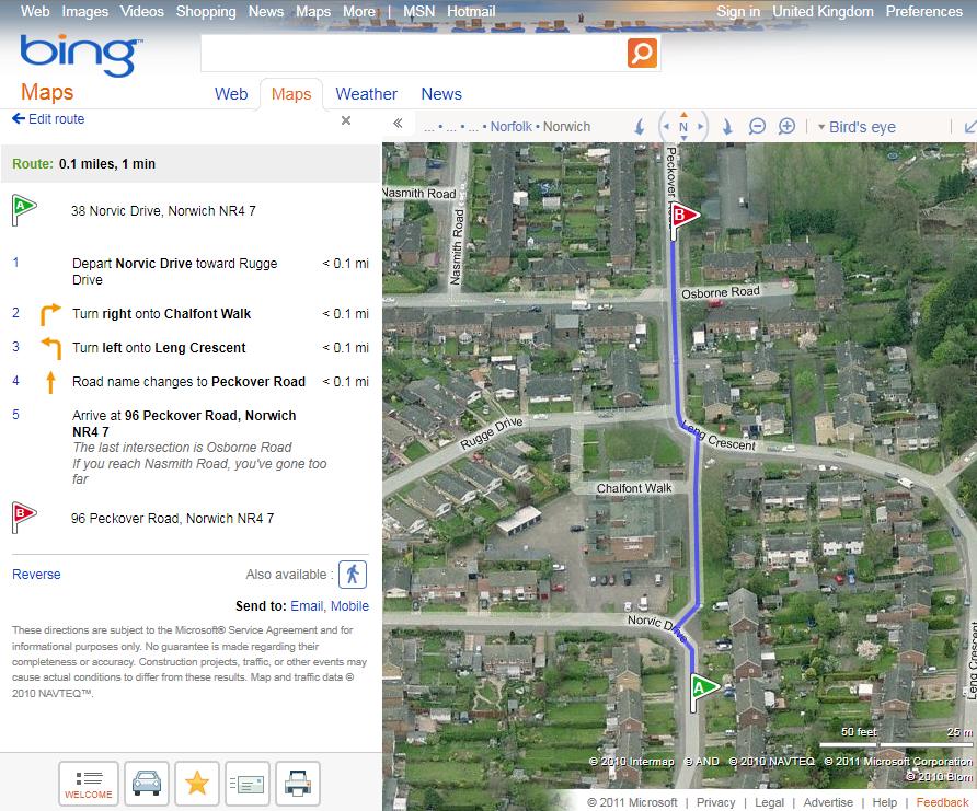 Google Maps vs Bing Maps vs OSM