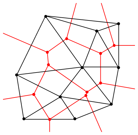 Nearest neighbours voronoi diagrams and finding your nearest sql in fact if you connect the circumcenters of all the triangles in a delauney triangulation youll create a voronoi tessellation of the original set of ccuart Image collections