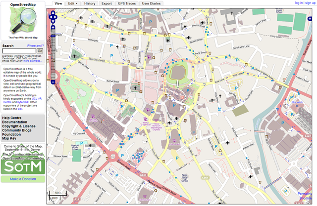 Mapnik tiles in Open Street Map