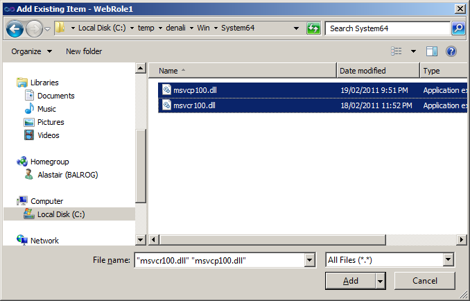 MSVCR100.dll What version do I install for XP SP3 2002 Home Edition 32 bit