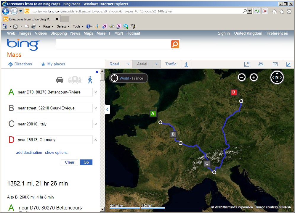 URL Parameters for the Bing Maps website   Alastair Aitchison