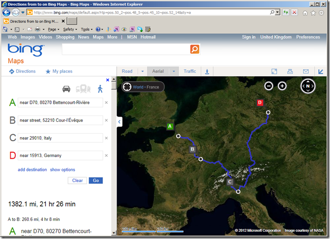 URL Parameters For The Bing Maps Website