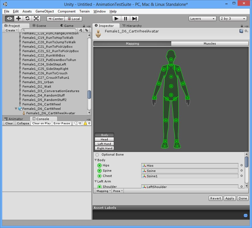 Using (Free) Mocap Data for Game Character Animation in